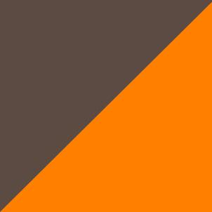 braun/orange