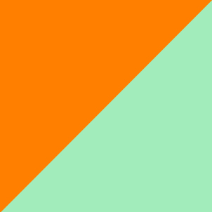 orange/mintgrün