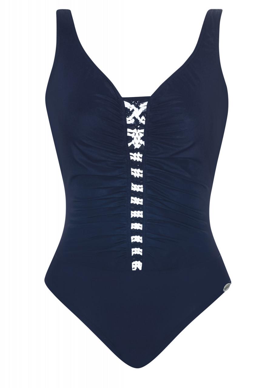 sehr bekannt neueste trends von 2019 Fabrik authentisch Badeanzug Lady in Blue Shapewear
